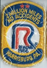Roadway Express 1986 2 million miles Harrisburg, PA drivers patch 4X2-3/4 inch