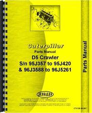 Caterpillar D5 Crawler Parts Manual SN# 95J357-95J420