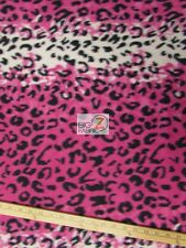 "LEOPARD PRINT POLAR FLEECE FABRIC  - Pink Snow - 60"" WIDTH SOLD BY THE YARD 22"