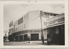 Vintage Black & White Photo Woolworth Drug Store In Jamaica Car & Police Sign 59