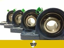 "(4 PIECES) 1-3/8"" Pillow Block Bearing, UCP207-22 Solid Foot P207"