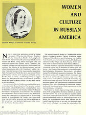 Women and Culture in Russia America + Genealogy