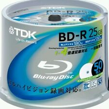50 x  TDK 25gb  blank printable blu ray discs