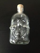 1x 500ml SKULL GLASS BOTTLE WINE STORAGE NOVELTY HALLOWEEN SKELETON
