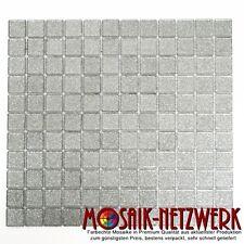 Mosaik silber glitzer Glas Bad WC Küche Dusche Fliesenspiegel Art:60-0207 | 1qm