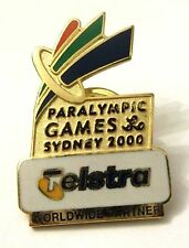 Pin Spilla Sydney 2000 Paralympic Games - Telstra World Wide Partner