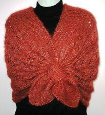 Knitting Pattern - Elegant Brown Shawl Collar Shrug (No Yarn Breaking)