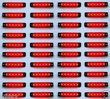 40 pcs ROUGE 24V 6 LED Side Rear Feux De Position pour Iveco Daf Man Scania
