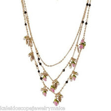 Les Nereides Small Pink Flowers Necklace - Australian shop