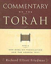 Commentary on the Torah by Richard Elliott Friedman (Paperback, 2003)