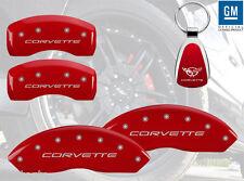1997-2004 Chevrolet Corvette Red Brake Caliper Cover Front Rear Keychain INSTOCK
