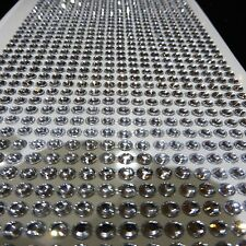 4MM SELF ADHESIVE STICK ON DIAMONTE CLEAR CRYSTAL SILVER RHINESTONE DIAMANTES