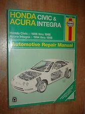 1996-1998 HONDA CIVIC SERVICE MANUAL SHOP BOOK REPAIR 1994-1998 ACURA INTEGRA
