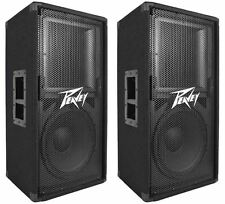 "2 Peavey PV112 12"" Two Way 1600 Watt Pro Audio Live Sound Speakers"