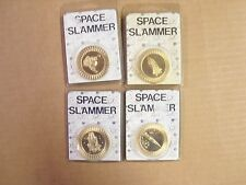 POGS SLAMMERS SPACE SLAMMER IN RARE GOLD COLOR SET/LOT OF  (4) DIFFERENT