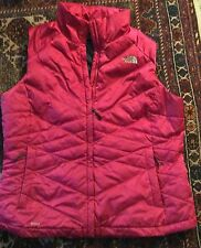 women XL north face 550 pink down vest