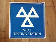 M.O.T. Testé STATION Enseigne Atelier AUTOCOLLANT 40cm Garage MOT Véhicule Test