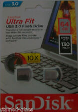 SanDisk Ultra Fit™ CZ43 64GB USB 3.0 Low-Profile Flash Drive Up To 130MB/s Read