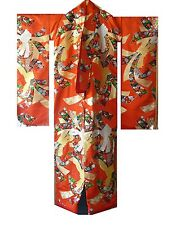 Japanese Wedding Kimono Robe Uchikake Gold Silver Embroidered Brocade Rope Knots