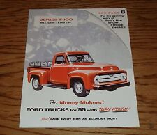 1955 Ford Truck F-100 Pickup Panel Sales Brochure 55