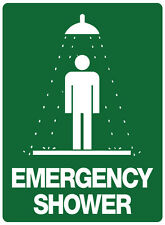 "Safety Sign ""EMERGENCY SHOWER  5mm corflute 300MM X 225MM"""