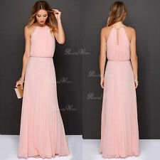 UK Sexy Boho Womens Summer Chiffon Ladies Party Evening Beach Long Maxi Dress