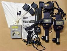 Sunpak G 4500DX auto 555 complete kit bounce reflector AC adaptor filters USED