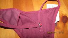 burgundy  thong, choice of sizes, 8 - 16, UK sizing, jewellery detail to back