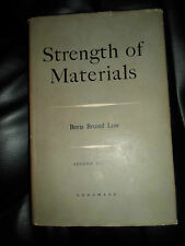 Strength Of Materials By Bevis Brunel Low Illustrated 1959 HB+DJ