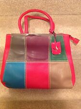 Extra large red and patterned handbag
