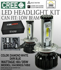 ICBEAMER H4 9003/HB2 6000K 30000K CANBUS CREE COB LED KIT HIGH LOW BEAM 3300LM