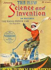 SCIENCE AND INVENTION January 1924 - Frank R. Paul, Hugo Gernsback - High grade