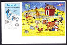 1989 SPAZIO REDONDA ANNIVERSARIO Moon Walk Walt Disney primo giorno di copertura foglio FDC