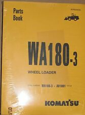 PARTS MANUAL FOR WA180-3 SERIAL A81001 KOMATSU WHEEL LOADER