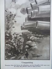 1917 BRUCE BAIRNSFATHER CARTOON UNAPPETISING; THE GLORIOUS FIFTH WWI WW1