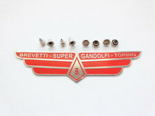 Super Gandolfi Red Colour Etched Stainless Steel Seat Badge + Rivet Ulma Vigano