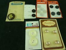 Vintage 6 Cards of buttons mixed buttons 18 buttons altogether