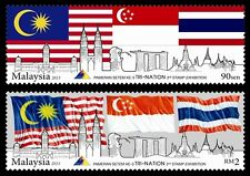 Malaysia 2013 Tri-Nation 3rd Stamp Exhibition (2v) ~ Mint