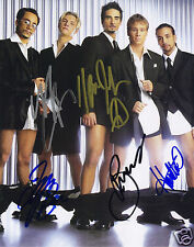 BACKSTREET BOYS ENTIRE GROUP AUTOGRAPH SIGNED PP PHOTO POSTER
