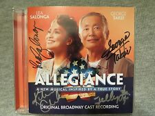 SIGNED GEORGE TAKEI (STAR TREK) ,LEA SALONGA ALLEGIANCE BROADWAY CAST CD 2016