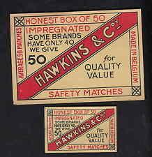 Ancienne étiquettes allumettes   Belgique  BN6310 Hawkins
