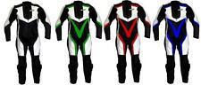 Tuta per moto racing da pista in vera pelle intera con gobba 52 54 56 58 XL 2XL