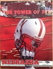 Program Nebraska Huskers vs Nevada Wolf Pack Game Magazine 2007