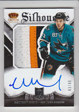 MATTHEW NIETO 2013-14 Crown Royale Silhouette Rookie Patch Auto #D /99 Sharks RC