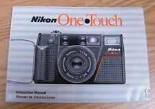 Genuine Nikon One Touch Film Camera Instruction Manual / Booklet Only **READ**