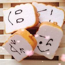 1PC smell sweety slice of bread toast bun for phone pendant key ring straps new