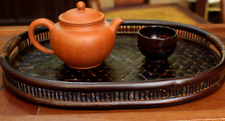 BAMBOO TRAY Brown Handmade Classic Tea Coffee Table Gift collection luxury New