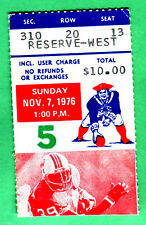 11/7/76 N.E. PATRIOTS/BUFFALO BILLS NFL FOOTBALL TICKET STUB