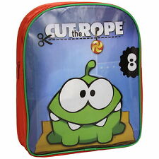 NEW OFFICIAL Cut The Rope Om Nom Boys Girls Kids Backpack Rucksack / School Bag