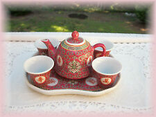 Chinese Wedding Tea Set Ceremonial Famille Rose 7 Piece